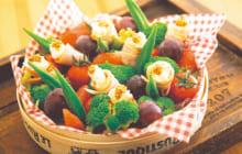画像:薄切りハムのフラワーサラダ