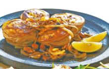 画像:サツマイモと豚肉のミルフィーユ焼き