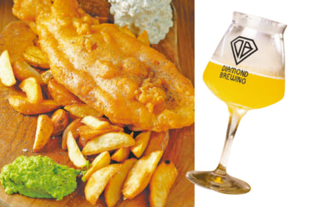 NY-Style Fish & Chips (full size) ¥1,580 (tax excl)