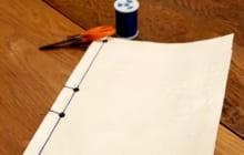 画像:ひもで簡単 製本してみよう!【熊本大学新聞社】