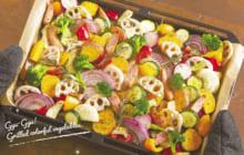 画像:さまざまな味と食感がワンプレートに 彩り野菜のぎゅうぎゅう焼き