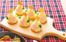 画像:美味しいレシピ クリスマス特別編 – ポテトサラダツリー