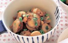 画像:美味しいレシピ お正月特別編 – ベビーホタテとエリンギのガーリックソテー