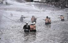 画像:南関町消防出初式(放水合戦)