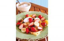 画像:おうちでCOOK – クレープとフルーツの一皿