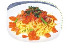 画像:トマトの冷製パスタ