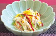 画像:おうちでCOOK – つるつる、 シャキシャキ、 元気が出るサラダ! ナガイモの甘酢サラダ