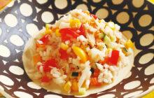 画像:おうちでCOOK – イタリアの夏の定番メニュー お米の冷たいサラダ