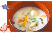 画像:キノコの豆乳 お月見汁
