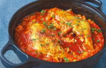 画像:骨付きチキンのトマト煮込み