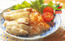 画像:トマトと鶏肉のうま味たっぷり「シンガポールチキンライス」