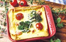 画像:ブロッコリーとミニトマトのパンキッシュ