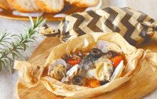 画像:おうちでCOOK – 電子レンジで楽チン調理 アサリとサワラのレンチンアクアパッツア
