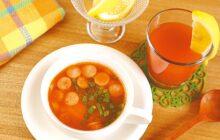 画像:おうちでCOOK – ケチャップで作るラクラク即席メニュー トマトスープ&トマトサイダー