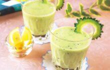 画像:おうちでCOOK – ビタミンもしっかり取れる腸活ドリンク ゴーヤーのヨーグルトスムージー